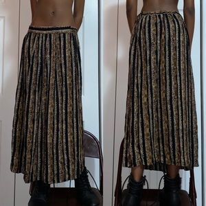 brown and black maxi skirt